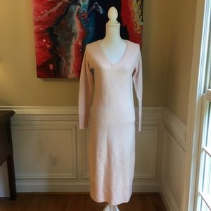 SOMETHING NAVY Pink Cashmere & Silk Maxi Dress NWT